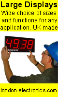 UK Made Large digital displays and digital panel meters for process monitoring and control